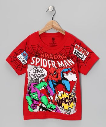 Red Spider-Man & Green Goblin Tee - Kids