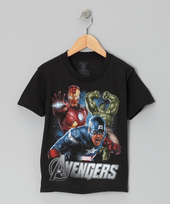 Black Avengers Trio Tee - Kids