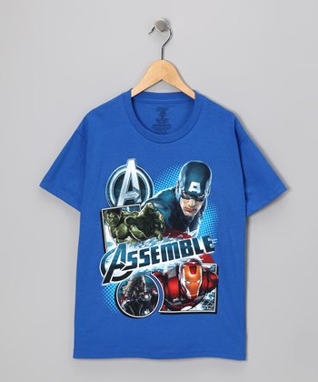 Royal Blue Avengers 'Assemble' Tee - Kids