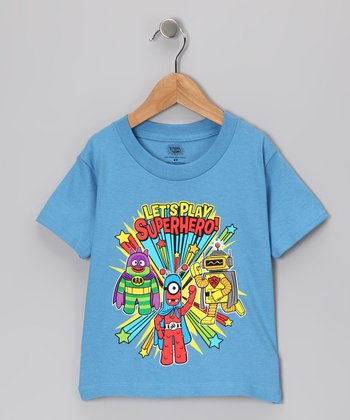Blue Yo Gabba Gabba! 'Superhero' Tee - Toddler