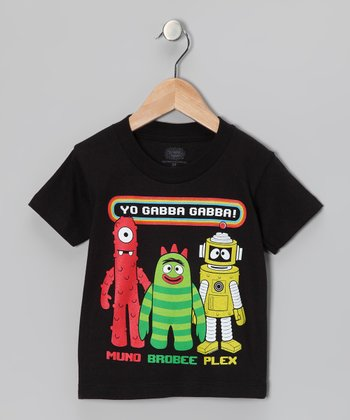 Black Yo Gabba Gabba! Group Tee - Infant