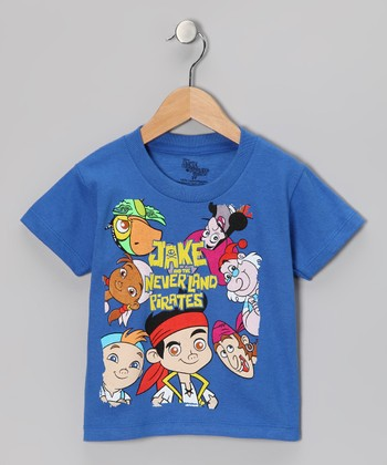 Royal Blue Pirate Crew Tee - Toddler