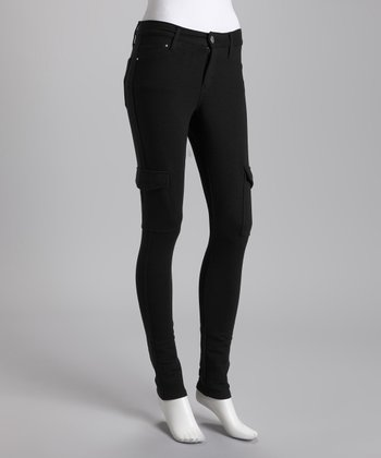 Black Cargo Jeggings