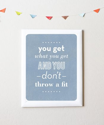 'Throw a Fit' Print