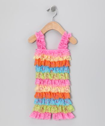 Rainbow Ruffle Romper - Infant