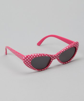 Hot Pink Polka Dot Sunglasses