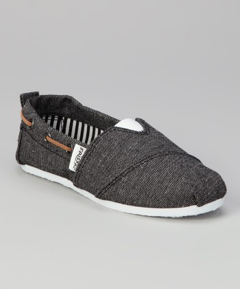 Black Rope Slip-On Sneaker