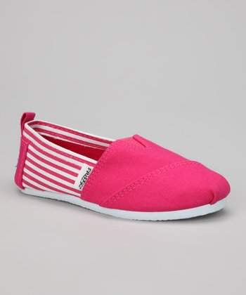Pink Stripe Slip-On Sneaker