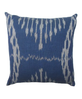 Agua Ikat Silk-Blend Square Throw Pillow