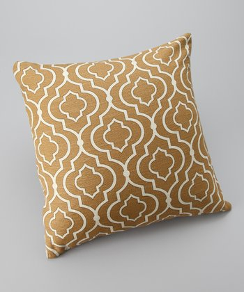 Gold Global Down Square Throw Pillow