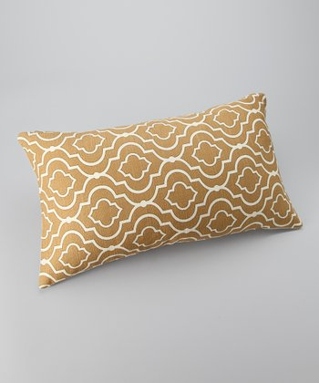 Gold Global Down Rectangular Throw Pillow