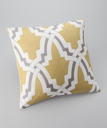 Yellow & Lavender Global Down Square Throw Pillow