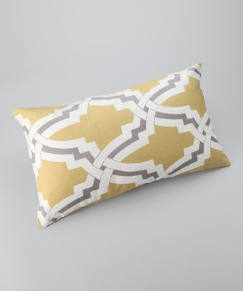 Yellow & Lavender Global Rectangle Pillow