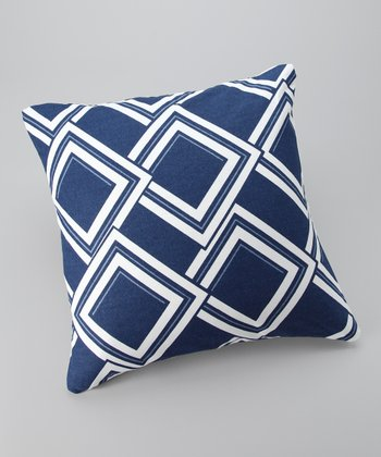 Blue Diamond Down Throw Pillow