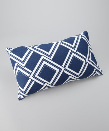 Blue Diamond Down Rectangular Throw Pillow