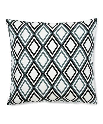 Blue & Black Geometric Down Square Throw Pillow
