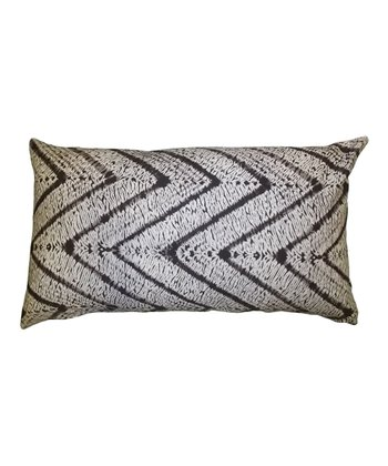 Brown Zigzag Karma Down Rectangular Throw Pillow