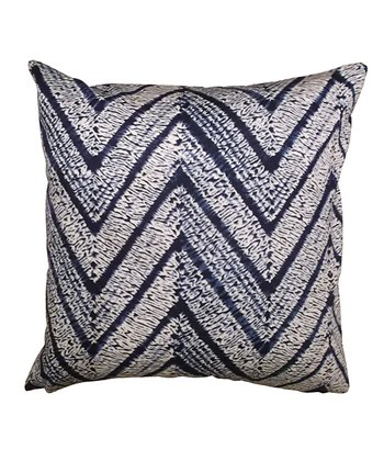 Blue Zigzag Karma Down Throw Pillow