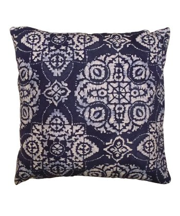 Blue Medallion Karma Down Throw Pillow