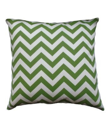 Green Zigzag Indoor/Outdoor Pillow