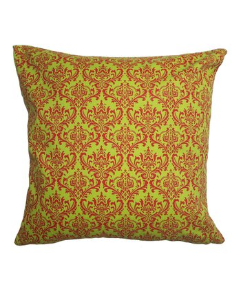 Red & Green Regal Square Pillow