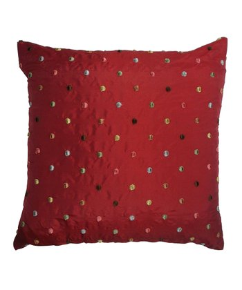Red Down Square Pillow