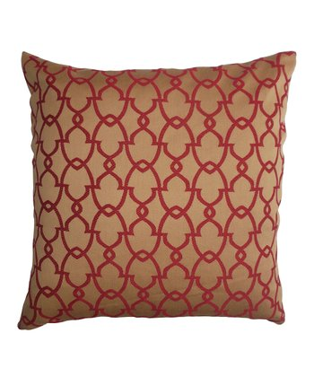 Red & Gold Down Square Pillow