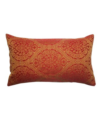 Red Damask Rectangle Pillow