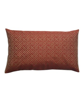 Red & Gold Down Rectangular Throw Pillow