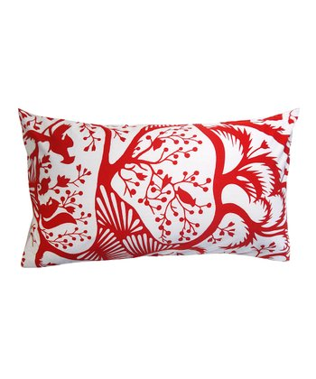 Red Woodland Down Rectangle Pillow