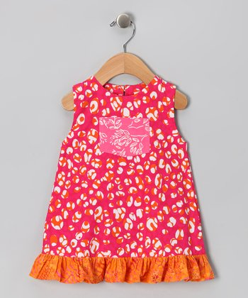 Pink Jungle Pocket Ruffle Dress - Infant & Toddler