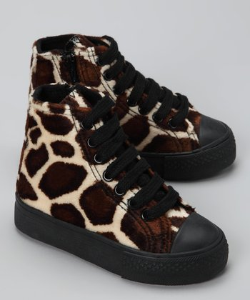 Brown Giraffe Hi-Top Sneaker