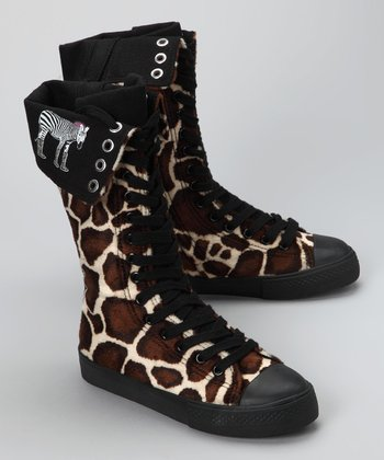 Brown Giraffe Boot