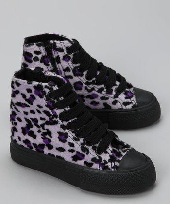 Royal Purple Cheetah Hi-Top Sneaker
