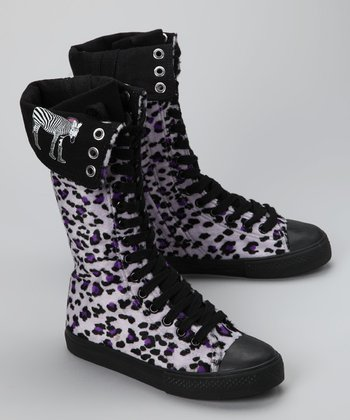Royal Purple Cheetah Boot