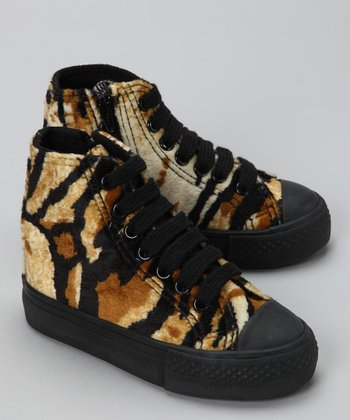 Tan Sneaky Tiger Hi-Top Sneaker