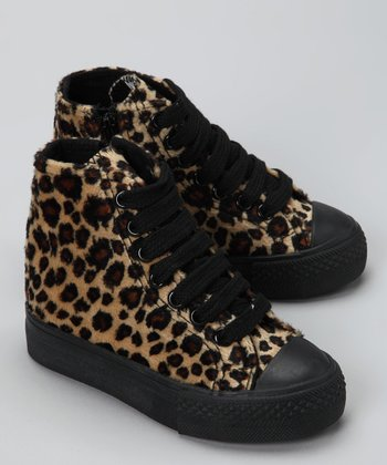 Brown Cheetah Hi-Top Sneaker