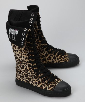 Brown Cheetah Boot