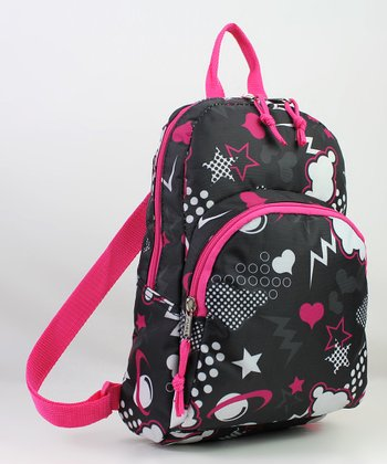 Black & Pink Mini Backpack