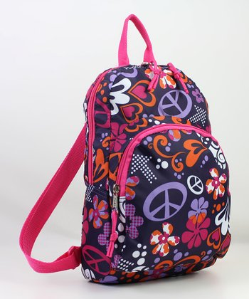 Pink & Orange Peace Mini Backpack