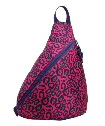 Pink & Black Leopard Mini Sling Backpack