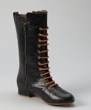 Fugu Malibu Black Leather Laddie Boot