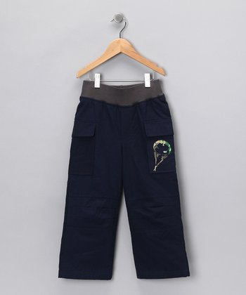 Blue Paratrooper Pants - Boys