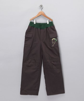 Gray Paratrooper Pants - Boys