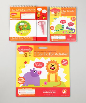 FUN Floor Pad, Cut Activity Book & Math Book Set