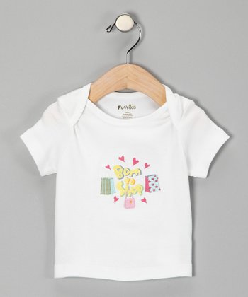 White 'Born to Shop' Organic Tee - Infant