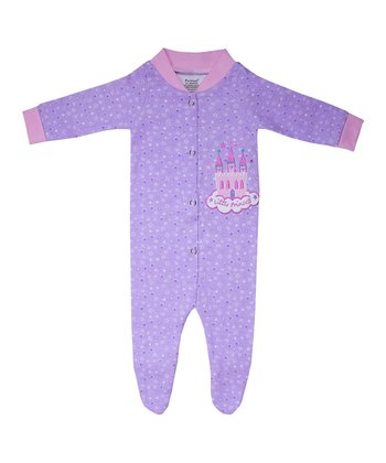 Purple Little Princess Organic Footie - Infant