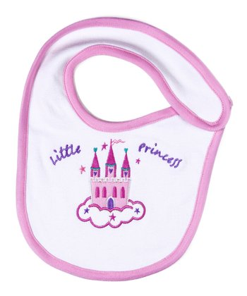 Purple Little Princess Organic Bib