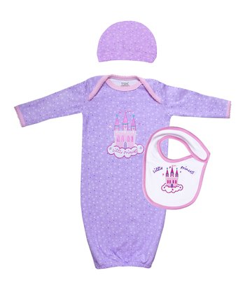Purple Little Princess Organic Gown Set