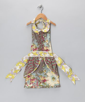 Gray & Yellow Faith Apron - Kids